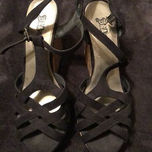 Women's Black Wedges